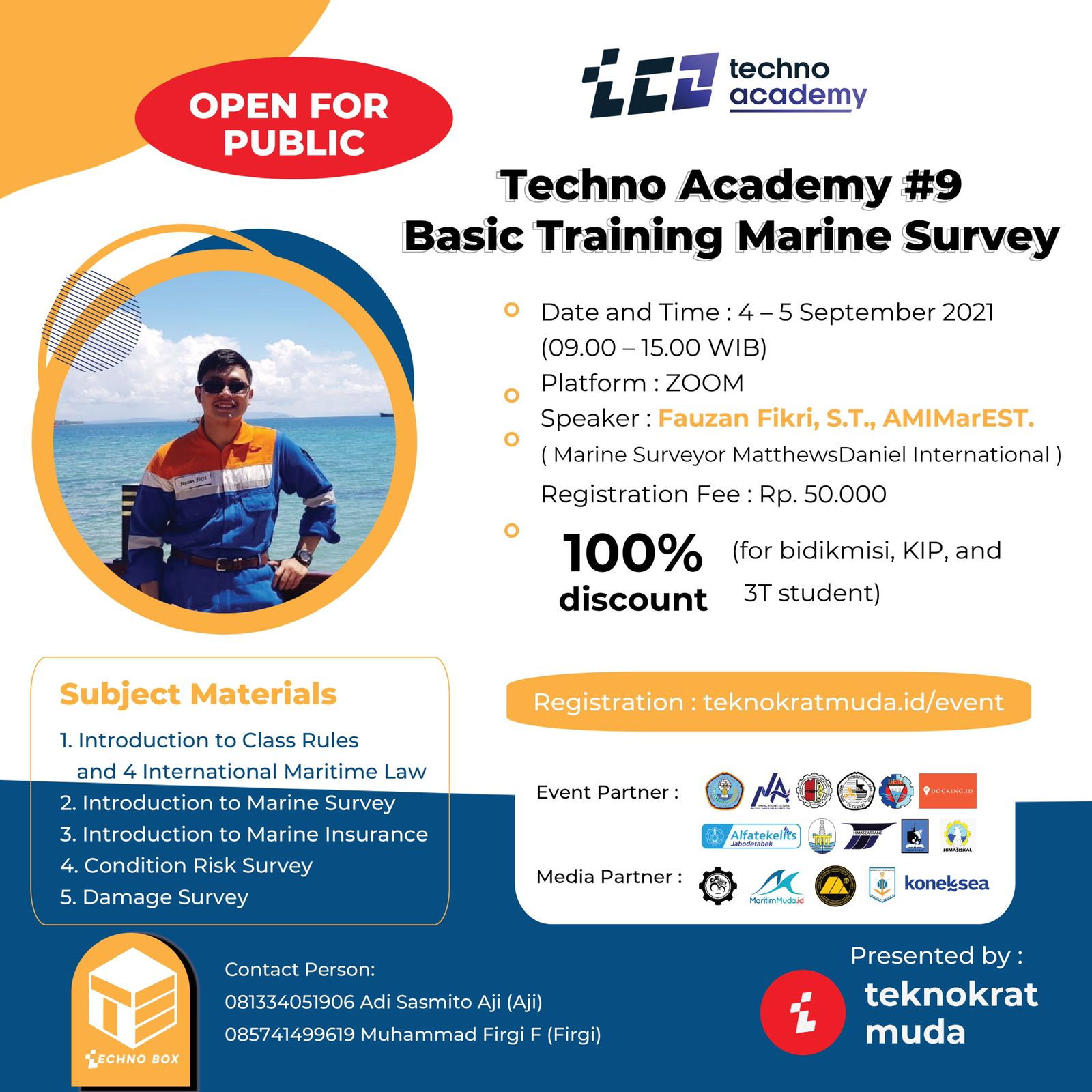 Techno Academy #9 Basic Training Marine Survey
